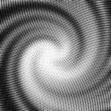 Vector halftone golfvorm Stock Afbeeldingen