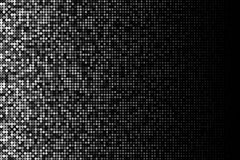 Vector halftone gradient pattern made of dots with randomized opacity. Royalty Free Stock Photos