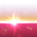 Vector halftone mosaic with sun flares and bokeh Royalty Free Stock Photo