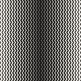 Vector halftone naadloos patroon De verticale achtergrond van zigzaglijnen Royalty-vrije Stock Fotografie
