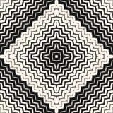 Vector halftone naadloos patroon Diagonale zigzaglijnen, strepen royalty-vrije illustratie