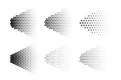 Vector halftone nevel gemaakt van verschillende symbolen Nevel halftone reeks Royalty-vrije Stock Fotografie