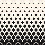 Vector halftone patroon, zwart-wit geometrische verticale textuur, Stock Fotografie
