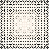 Vector halftone pattern, monochrome texture with small rounded s. Hapes, visual effect of gradient transition, circular form. Abstract ornamental background Royalty Free Stock Image