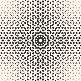 Floral halftone pattern, effect of gradient transition. Vector halftone pattern, monochrome texture with small rounded shapes, visual effect of gradient Royalty Free Stock Photo