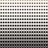 Vector halftone pattern with rhombuses, diamonds. Horizontally texture. Stock Image