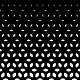 Vector halftone pattern. Vertical falling shapes Stock Photography