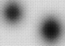 Vector halftone punten royalty-vrije illustratie