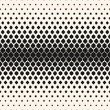 Vector halftone seamless pattern, monochrome geometric texture, Stock Images
