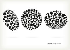 Vector halftone set Royalty Free Stock Image