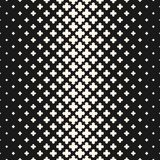 Vector halftone texture, monochrome seamless pattern with crosses. Vector halftone texture, monochrome seamless pattern, gradient transition effect from black to royalty free illustration