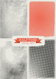 Vector Halftone Texture Pack royalty free illustration