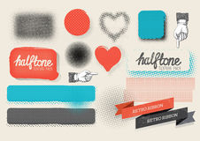 Vector Halftone Texture Pack Stock Photo