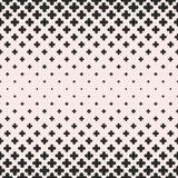 Vector halftone texture, seamless pattern with falling floral shapes Stock Photo