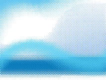 Vector halftone wave Stock Images