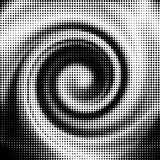 Vector halftone wave shape Stock Photo