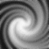 Vector halftone wave shape. For backgrounds and design Stock Images