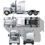 Vector hallo-hi-detailed semi-vrachtwagen Stock Afbeelding