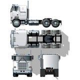 Vector hallo-hi-detailed semi-vrachtwagen Royalty-vrije Stock Afbeeldingen