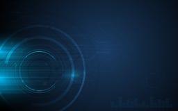 Vector hallo technologie-van het de achtergrond textuurontwerp van het patroon cirkelnet innovatieconcept Stock Foto's