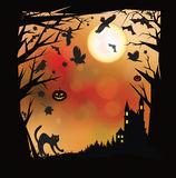 Vector Halloween background. Royalty Free Stock Photos