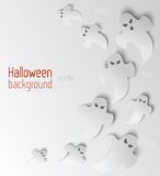 Vector Halloween background with ghosts Royalty Free Stock Photo