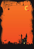 Vector Halloween background orange. Vector illustration of a orange Halloween night, simple to use for flyers or letters Royalty Free Stock Images