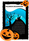 Vector Halloween background with pumpkin Royalty Free Stock Images