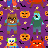 Vector  halloween background seamless Royalty Free Stock Photo