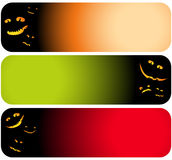 Vector halloween banners Royalty Free Stock Image