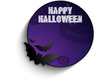 Vector - Halloween Bat Circle Frame Pumpkin Backgr Stock Photo
