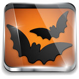 Vector - Halloween Bat Icon Button Application Stock Photography