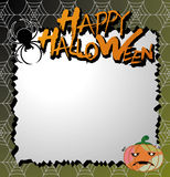 Vector halloween card Stock Photo