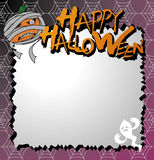 Vector halloween card. And letter paper Royalty Free Stock Images