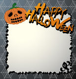 Vector halloween card. And letter paper Stock Photo