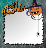 Vector halloween card. And letter paper Royalty Free Stock Photos