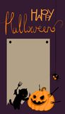 Vector halloween card with space for text. Cute vector halloween card with space for text Royalty Free Stock Photo