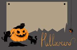 Vector halloween card with space for text. Cute vector halloween card with space for text Royalty Free Stock Image