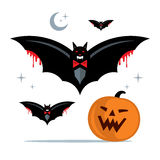 Vector Halloween Concept Cartoon Illustration. Royalty Free Stock Photo