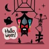 Vector Halloween Concept Cartoon Illustration. Stock Photos