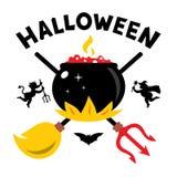 Vector Halloween Concept Cartoon Illustration. Stock Images