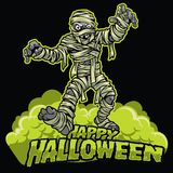 Halloween design of mummy stock illustration