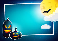 Vector Halloween frame Stock Photography