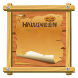 Vector Halloween frame. On the white background Royalty Free Stock Photography