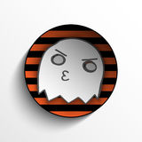 Vector - Halloween Ghost Button Icon Stripe Stock Image
