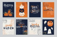 Halloween cards set Stock Images
