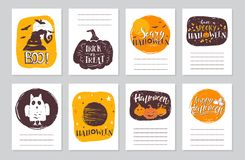 Halloween cards set Royalty Free Stock Photo