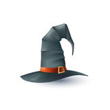 Vector Halloween Hat. Realistic Vector Halloween Hat Isolated On White Background Stock Image
