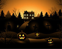 Vector Halloween haunted house background Royalty Free Stock Photo