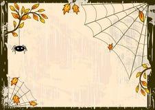 Vector Halloween-Hintergrund Stockbild